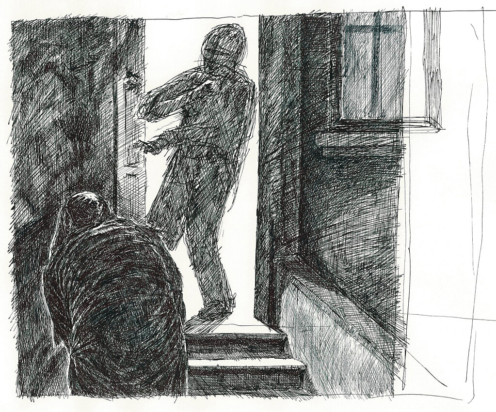 The Thing on the Doorstep - Sketch
